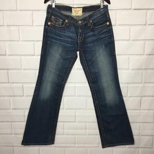 BIG STAR Liv Bootcut Distressed Dark Wash Jeans 30